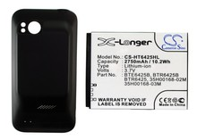 Battery For HTC For Droid Incredible HD, For Rezone, For Rezound 4G LTE, For ThunderBolt 2 (2750mAh) With Back Cover