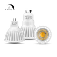 Aluminum GU10 LED Spot Light AC 220V 110V MR16 GU5.3 LED Bulb AC DC 12V LED Light 3W 5W 7W Dimmable COB LED Spotlight Indoor