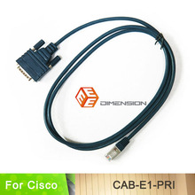 6FT factory supply CAB-E1-PRI DB15 to RJ45 E1 ISDN PRI router Cable for cisco AS5200 E1(China)