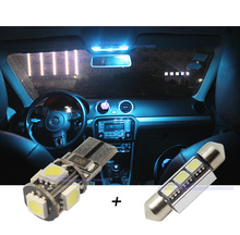 LED Car Canbus Interior light bar kit  Xenon White for VW POLO 9N3 BJ 2006-2008,Car LED Dome+Reading+Make-up Mirror+Trunk light