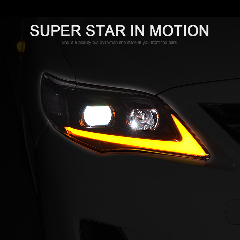 CNSUNNYLIGHT For Toyota Corolla 2011 2012 2013 Car Headlights Assembly With LED DRL Turn Signal Lights Plug & Play Head Lights (9)
