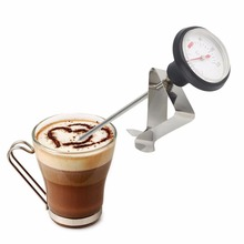 Portable Stainless Steel Kitchen Espresso Coffee Milk Frothing Cooking Kitchen Thermometer Craft For Milk Coffee Water Oil
