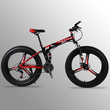 Buy bicycle Mountain bike 24speed 26x4.0 Folding bike fat bike Double disc brakes Bicycles Snow Bike Front rear damping road for $290.50 in AliExpress store