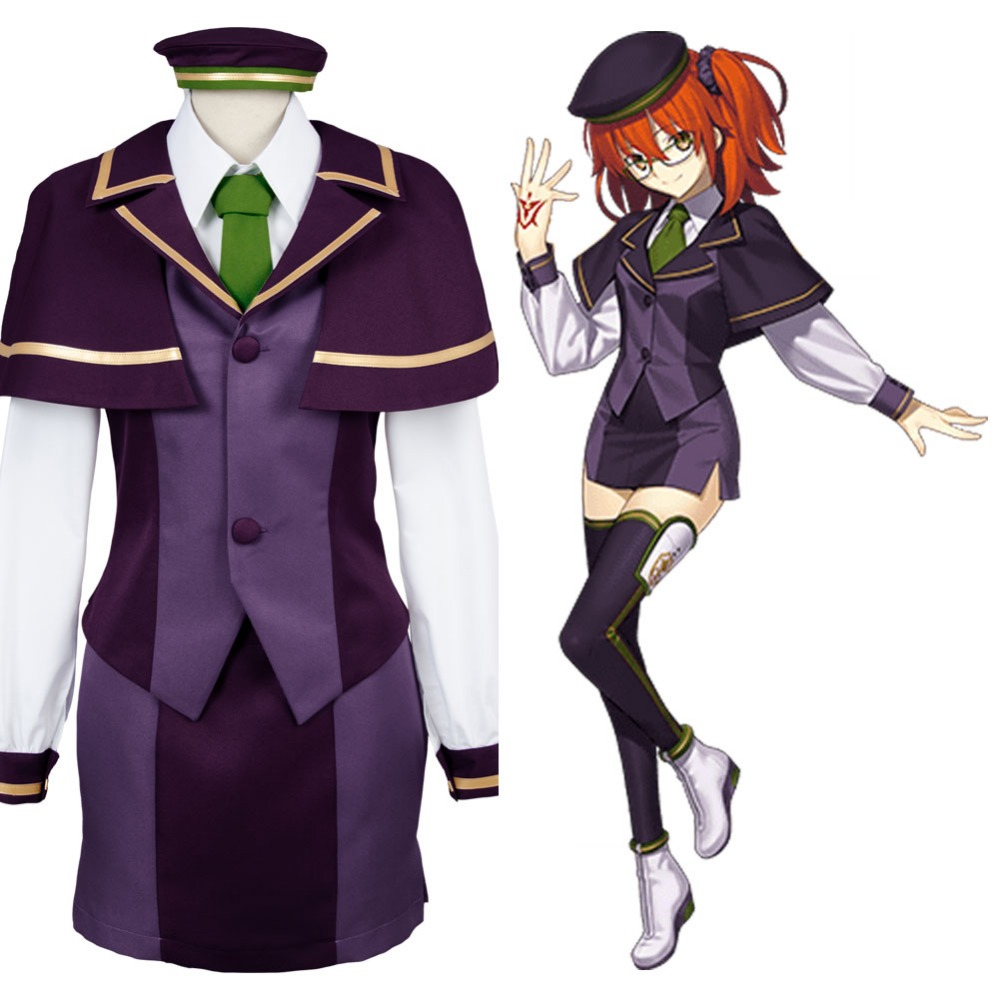 Fate Grand Order Protagonist Ritsuka Fujimaru Cosplay Costume Full Set School Girl Uniform
