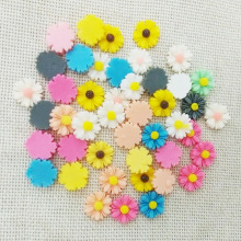 50pcs white resin flowers cabochons cameo flat back no hole loose beads Daisy mobile phone case glue on decoration accessories