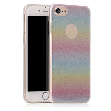 Fashion Design TPU Rainbow Soft Shell Protective Back Cover Case Wear-Resistant Phone Sleeve for iPhone 7 7 Plus 4.7 5.5 inch