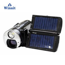winait wholesale china cheap digital video camera HDV-T99 with Dual Solar Panel Charging Full HD1080P16x digital zoom(China)