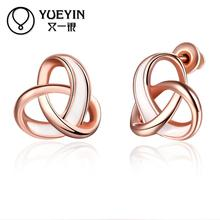 Rose/yellow gold color earrings for women fashion jewelry gold color earrings gift nausnice Jewelry supplier Romantic