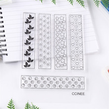 CCINEE 1PCS Clear Transparent Stamp DIY Silicone Seals Scrapbooking Photo Album Decoration Supplies(China)