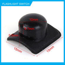 50pcs 15*15mm Flashlight Switch Cap Electronic DIY Parts Accessories Zoom Key Cap for LED Torch