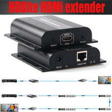 New TCP/IP HDbitT HDMI extender IR over routers by cat6/7 cable up to 120M(receiver only) supports 1 TX to N RX