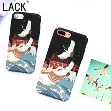 LACK Cute Cartoon Crane Bird Case For iphone6 Newest Phone Cases Frosted Hard PC Capa Fundas For iphone 6S 7 7Plus Back Cover