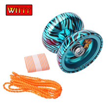 Metal Yoyo Toy High Speed Bearings Special Props Butterfly yo yo With String Dead Sleep A Cutch yo-yo Gift Toys For Children(China)