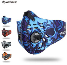 XINTOWN Men Sports Cycling Breathable Carbon Filters Face Mask Bicycle Dust Smog Protective Half Face Neoprene Mask PM2.5