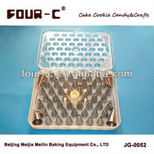 Four-C practical Pastry tubes set ! Gapless stainless steel pastry tube,pastry nozzle set, cake decorating kit
