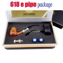 one set  E pipe 618 e-cigs guardian wooden mod  style electronic smoking e pipe 618 starter kit without the 18350 battery cell
