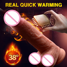 Buy Silicone Vibration Dildo Realistic Suction Cup Big Huge Dildo Male Artificial Penis Masturbator Adult Sex Toys Woman Dick.