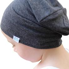 Fashion Solid Bonnet Enfant Kids Hat Baby Boy Girl Baby Hat Infant Cotton Blends Baby Winter Hat Soft Warm Baby Cap Beanie A02