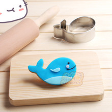 Whale cutter  Kitchen Toys Cake Fondant Biscuit Press Icing Set Stamp Cookie Cutter Tools stainless steel cookie cutter 2421