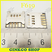 25pcs/lot SIM card reader holder Connector for samsung F619 C3730 3730C S5570C T959 S8500 SIM Card Slot Free shipping(China)