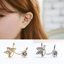 Tomtosh Fashion cute bird earrings created crystal ear clip without pierced ear clip jewelry accessories wholesale