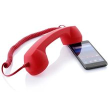 2017 New Arrival Classic 3.5 mm Comfort Retro Phone Handset Mic Speaker Phone Call Receiver For Mobile Phone Wholesale free ship(China)