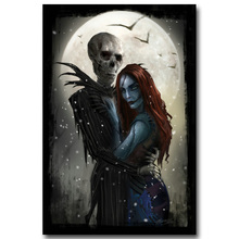 NICOLESHENTING The Nightmare Before Christmas Art Silk Poster Print Cartoon Movie Picture for Home Decor 004