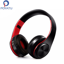POYATU On Ear Wireless Bluetooth Earphone With Microphone Stereo Bluetooth Headset/Headphones For Phone Active Noise Cancelling