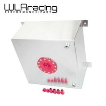 WLRING STORE- 15 GALLON/56.8L RACING ALUMINUM GAS FUEL CELL TANK WITH BILLET RED CAP FUEL SURGE TANK WLR-TK72