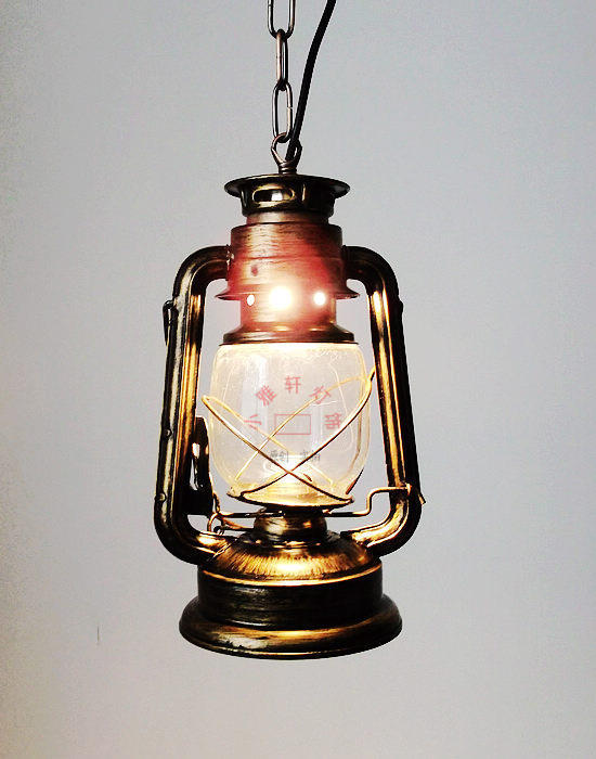 Antique Lantern Wrought Iron Glass Oil Kerosene Light With chain Pendant Light Cafe Bar Aisle<br><br>Aliexpress
