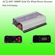 2017 Hot Selling 1000W Three Phase AC22V~60V Input, AC 115V/230V Output SUN-1000G-WAL-LCD-24V Grid Tie Wind Power Inverter