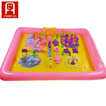 Playing sand tools beach with Sand table Inflatable Sand Tray Plastic Mobile Table  Inflatable cushion