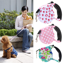 5 M Pet Dog/Cat Puppy Automatic Retractable Pet Traction Rope Training Rope Cord Walking Lead Leash 3 Color Pet Products