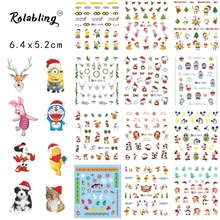 2017 New Arrival Different Funny And Cute Character Cartoon Series Water Transfer Nail Sticker Fingernail Stickers
