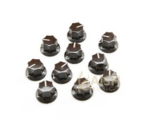 "10pcs USA Spec  Large Knobs 1/4"" MXR Style Jaguar Mustang Knob Brown"