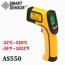 Digital thermometer Infrared thermometer laser IR non-contact temperature Gun -32-550C measuring electronic pyrometer AS550