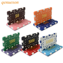 10PCS/Lot High-quality Special Square Type Large Square Chip Set Chips Currency Hold'em With Custom Mahjong ABS Chips Poker Chip