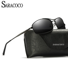 SARACOCO Fashion Brand Polarized Driving Sunglasses for Men 2017 Polaroid Lens Alloy Frame Driving Glasses Male CO16(China)