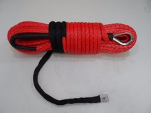 Red 11mm*30m Synthetic Rope,Off Road Rope,Replacement Winch Cable,Boat Winch Rope,Kevlar Winch Cable
