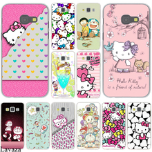 Animation Hello Kitty mobile phone bag Hard Case Cover for Galaxy A3 A5 J5 (2015/2016/2017) & J3 J5 Prime A7 J7