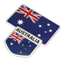 10pcs/lot Aluminium Alloy Australia Flag Car Stickers Emblem Accessories Flag Australia 3D Car Exterior Badge Logo Decoration(China)