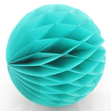 400pcs/lot  Bulk Sale 10'' (25cm ) Tiffany Blue Tissue Paper Honeycomb Balls DIY Paper Decorations for wedding baby shower