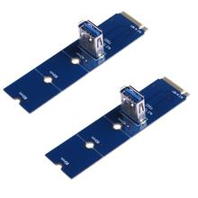 Buy 2pcs NGFF M.2 USB 3.0 Card Adapter M2 USB3.0 Card PCIe PCI-E Riser Card Bitcoin Litecoin Mining miner for $4.35 in AliExpress store