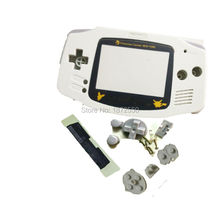 Hot Sale White Color Limited Version Plastic Lens For Nintendo Gameboy Advance GBA Console Replacement Case w/ Rubber Pads