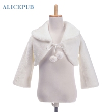 High Quality Winter Warm Faux Fur Bridal Wedding Wraps Jacket Scarves Evening Stoles Bolero Coat Girl's Accessory PJ150013