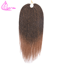 "Refined 14"" 16"" 18"" 20"" 22"" Ombre Synthetic Crochet Braids for Braiding Hair 30strands Senegalese Twist Crochet Hair Extensions"