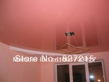 Sample for Dark Red Glossy Ceiling Film in Study Room---PVC Stretch Ceilings in a  Construction Materials and Ceiling Materials