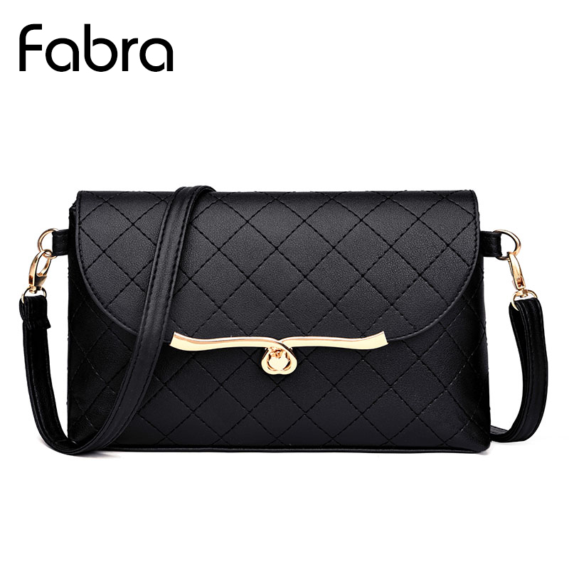 Fabra New Women Messenger Bags Pu Leather Flap Women Diamond Lattice Shoulder Bags Black Solid Small Evening Bag Clutch Flap