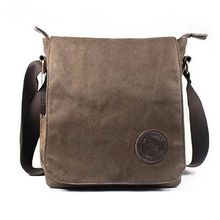 Men's Canvas Leather Crossbody  Casual Military Messenger Shoulder Bag Satchel Travel Bags