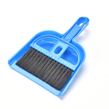 7.08*4.52'' Small Broom Dustpan Set Home Cleaning lovely pet Mini Desktop Sweep Cleaning Brush(China)